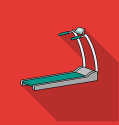 Treadmill icon in flat style isolated on white vector