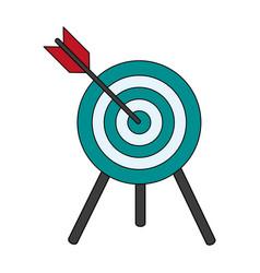 target shooting vector image