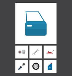 Flat icon auto set of petrol tire automobile vector