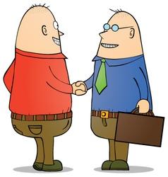 Businessman shaking hands vector image
