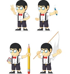 Nerd boy customizable mascot 12 vector