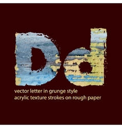 Grungy letter d vector