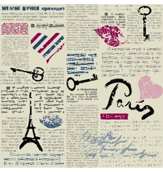 Newspaper paris vector