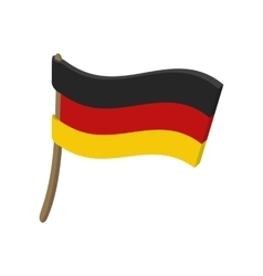 Flag of germany icon cartoon style vector