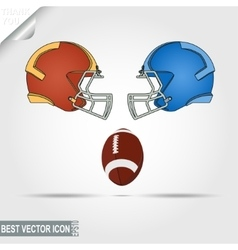 American Football game helmets and ball teams vector image vector image