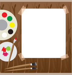 Art palette with paint vector