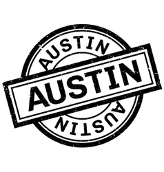 Austin rubber stamp vector
