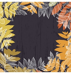 Autumn abstract frame design With empty space for vector image