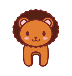 cartoon lion animal image vector image vector image