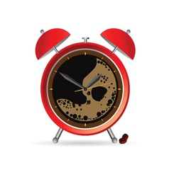Clock and coffee part two vector