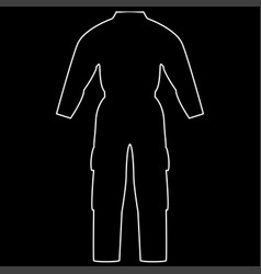 coverall the white path icon vector image vector image