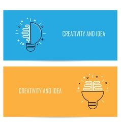 Creative brain idea concept background vector