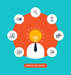Creative idea concept inspiration process vector image