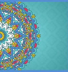 decorative mandala styled background vector image vector image