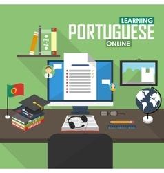 E-learning portuguese language vector