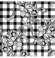 Eclectic fabric plaid seamless pattern with vector