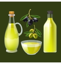 Fresh olive oil decorative poster vector image vector image