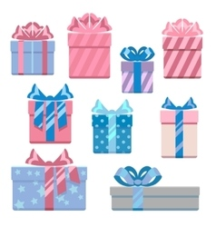 Gift boxes in pastel colors vector
