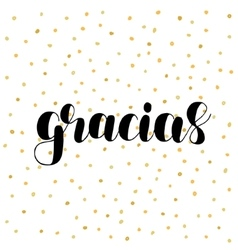 Gracias thank you in spanish vector