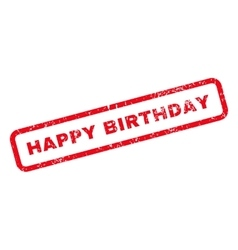 Happy birthday text rubber stamp vector