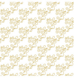 Holiday gift seamless pattern with hand lettering vector