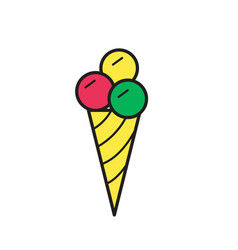 ice cream icon mono symbol vector image
