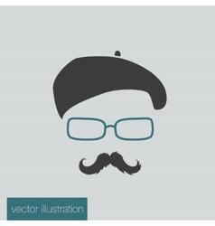 Icon man in a headdress vector image vector image