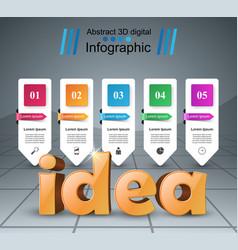 Idea 3d business infographics vector