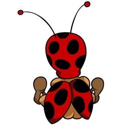 Ladybug Sitting Back vector image
