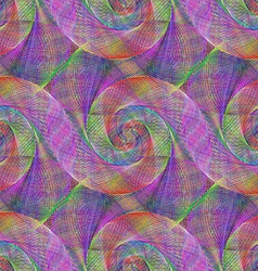 Multicolored wired abstract spiral pattern vector