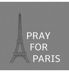 Pray for paris vector