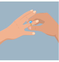 proposal of marriage flat concept vector image