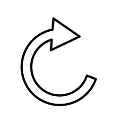 Reload button media menu vector