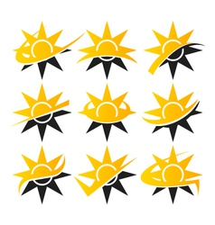 Solar Logo Icons vector image