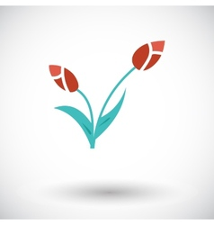 Tulip single icon vector image