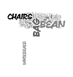 Wholesale bean bag chairs text word cloud concept vector