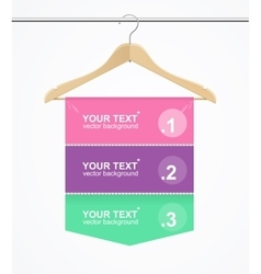 Banner hanger cloth vector