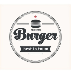 Logo with hamburger vector image