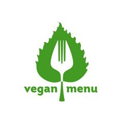 vegan menu icon vector image