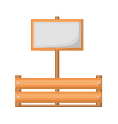 colorful silhouette of wooden box with banner vector image