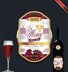 Luxury golden wine label vector