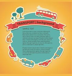 Transportation cartoon background vector