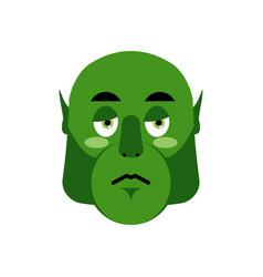 Ogre sad emoji goblin sorrowful emotion isolated vector