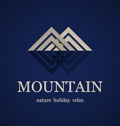 mountain symbol design template vector image