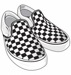 Checkered vans vector