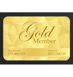Gold member card vector