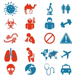 Icon set of mers virus vector
