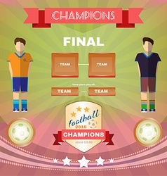 Soccer game champions final vector