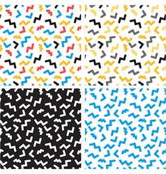 Abstract seamless patterns in trendy pop art vector