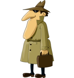 Spy with suitcase vector